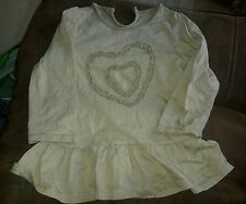 matalan girls top aged 2 - 3 year's beige