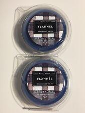 2 NEW BATH & BODY WORKS FLANNEL FRAGRANCE WAX MELTS TART CANDLE REFILL .97 OZ EA