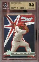 2001 topps stars #198 ALBERT PUJOLS cardinals rookie card BGS 9.5 (10 9 9.5 9.5)