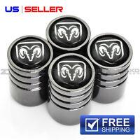 VALVE STEM CAPS  WHEEL TIRE BLACK FOR DODGE VE45 - US SELLER