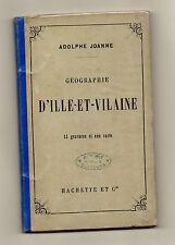 Géographie d'Ille-et-Vilaine - Adolphe Joanne - 1878- 14 Gravures + Carte