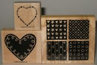 """Stampin' Up! Rubber Stamp Partial Set Loving Hearts """"friends"""""""