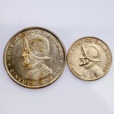 Panama 2 Coin Lot 1947 1/10 Balboa KM #12.1 1953 1/4 Balboa KM #19 BU