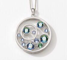 Touchstone Crystal Swarovski Floating Bubbles Necklace Bnib