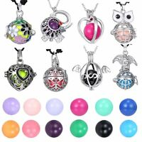 Harmony Ball Cage Leather Angel Caller Sound Bell Locket Pendant Necklace Gifts