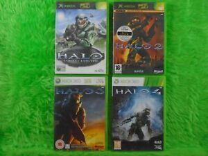 xbox 360 HALO x4 Games 1 + 2 + 3 + 4 (All Play On Xbox 360) PAL UK Versions