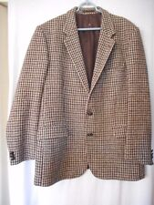 Size 42 St. Michael Harris Tweed Wool Blazer Sport Coat Jacket Made in UK 1980s