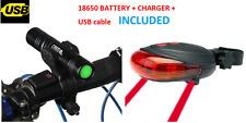 ANTERIORE e posteriore LED Luci Laser BICI impostato per Biciclette Mountain Road BMX