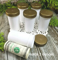 18 White Jars Plastic Screw Top Pill Bottle Container 2 ounce 4314 DecoJars USA