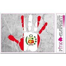 Pérou - main paume Doigt Imprimer étiquette Drapeau DESSIN bandero MANO