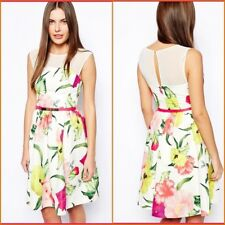 Ted Baker Dress Floral Print Size 12 New No Tags