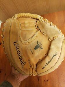 "Vintage Diamond D1000 Catchers Mitt RHT Handcrafted Professional Player 32"""