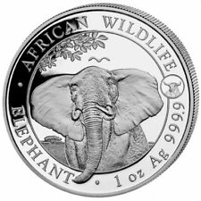 SOMALIE 100 Shillings Argent 1 Once Elephant 2021 Marque Buffle