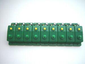 9 x Trix 66595 Weichenschalter Doppelfunktionsschalter grün (1)