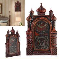 Islamic Wall Clock Masjid Mosque Design Allah Shahadah Arabic Quran Muslim
