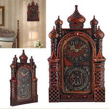 Islamic Wall Clock Masjid Mosque Design Allah Shahadah Arabic Quran Muslim Gift