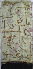 - Écharpe ENRICO COVERI  soie  vintage Scarf  33 x 150 cm