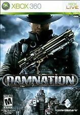 Damnation Xbox 360, 2009 Mature Shooter Video Game Complete Best Deals Low Price