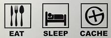 Geocache Eat Sleep Cache Decal Sticker Outdoor Quality Any Colour Buy2 Get 1Free