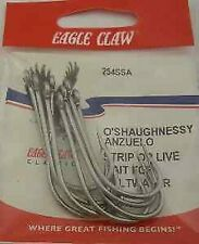 Eagle Claw 254SSA #6/0 5Ct Oshaughnessy Hooks- Stainless Steel 7015