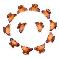 Pack of 12pcs Brown Women Mini Bulldog Hair Clips Claws Clamp Hair Accessory