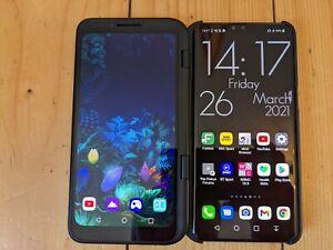 LG V50 ThinQ 5G 128GB Black Unlocked LM-V500EM w/second screen