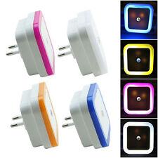 1X Veilleuse LED Lampe Nuit Chambre Chevet Capteur Lumière Mural Applique EU/US