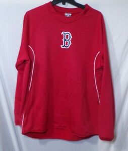 MLB Majestic Boston Red Sox Therma Base Pullover Sweatshirt Authentic Size Large