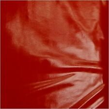 """*NEW* FAUX LEATHER RED PLEATHER FABRIC SWATCH 12"""" X 6"""""""