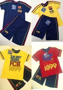 Barcelona Football Kit Childrens Training Kit Shirt & Shorts All Sizes 2 Colours
