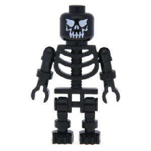 Lego Skeleton 8781 10217 79014 Standard Skull Harry Potter Minifigure