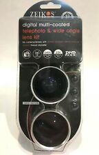 BRAND NEW ZEIKOS 37MM 2.5X TELEPHOT AND .45X WIDE ANGLE LENS KIT 25MM 27MM 28MM+
