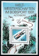 B.3 - BRD WM Bobsport, Altenberg 1991 Mi.1496 Block23 postfrisch m. Gummierung!