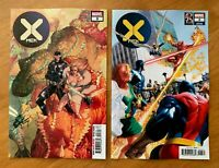 X-MEN #3 DX Yu Main + Alex Ross Marvel's 25th Variant Set 2019 NM