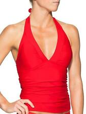 ATHLETA Shirrendipity Halter Tankini, NWT, Sz Small,  Saffron Red