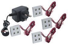 4 Luz LED Luz Kit zócalo, incluye 4 Cabezales Led & controlador de enchufe con construido en