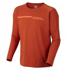 Mountain Hardwear Men's Cliffer L/S Tee Shirt, M / Russet Orange - $60 Nwt!
