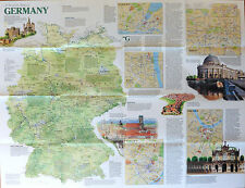 National Geographic Mapa Poster Vintage 1991-Viaje mapa de Europa Alemania