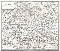 1938 Antique PARIS France Street Map Wall Art City Map of Paris France  #6470