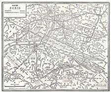 1938 vintage paris map gallery wall art city map of paris france 4676