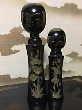Giapponese Vecchio Sosaku Kokeshi Bambola Shouichi Nero Kawaii Fatto Antico