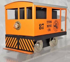 Rich Art Standard Gauge Mine Train TTOS 1987 Motorized Engine tinplateRuns needs
