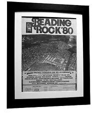 READING FESTIVAL+ROCK+1980+POSTER+AD+FRAMED+ORIGINAL+EXPRESS GLOBAL SHIP+TICKETS