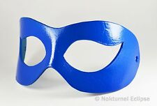 Blue Leather Mask Masquerade Harley Quinn Superhero Halloween Cosplay Costume