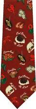 RED BEANS AND RICE 100% SILK NEW NOVELTY TIE