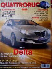 Quattroruote 612 2006 Com'è la Lancia Delta. Prova Nuova Corsa vs Punto [Q73]