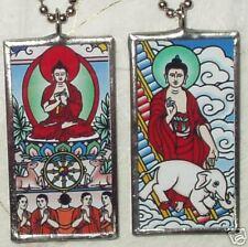 BUDDHA GLASS-ART PENDANT/NECKLACE