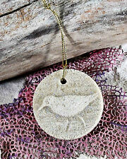 SANDPIPER on a String Made with Sand Tropical Beach Ornament