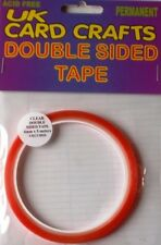 6mm X 5 Meters Clear Double Sided Sticky Tape, Adhesive
