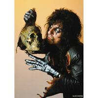"ALICE COOPER WITH SKULL POSTER - 1987 - 84 x 60 cm 33"" x 24"""